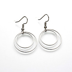 preiswerte Ohrringe-Damen Tropfen-Ohrringe - Grundlegend, Simple Style, Doppelschicht Gold / Silber Für Party / Alltag / Normal