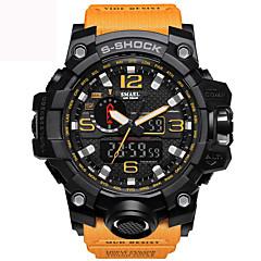 ราคาถูก นาฬิกาสำหรับผู้ชาย-สำหรับผู้ชาย นาฬิกาข้อมือ PU Leather ดำ / ฟ้า / แดง 30 m กันน้ำ ปฏิทิน เรืองแสง อะนาล็อก-ดิจิตอล เสน่ห์ วินเทจ ไม่เป็นทางการ กำไล แฟชั่น - สีเขียว ฟ้า สีกากี / นาฬิกาจับเวลา / noctilucent