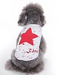 voordelige Hondenkleding & -accessoires-Kat Hond Gilet Hondenkleding Schattig Casual/Dagelijks Modieus Sterren Rood Blauw Zwart Kostuum Voor huisdieren