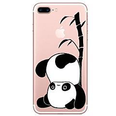 Недорогие Кейсы для iPhone X-Кейс для Назначение Apple iPhone X iPhone 8 Прозрачный С узором Кейс на заднюю панель Панда Мультипликация Мягкий ТПУ для iPhone X iPhone