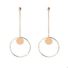 Χαμηλού Κόστους Σκουλαρίκια-Γυναικεία θαυμαστής σκουλαρίκια Κοσμήματα Κυκλικό Κρεμαστό Γεωμετρικό Μοντέρνα Εξατομικευόμενο Euramerican Χαλκός Geometric Shape