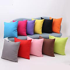 1 θήκη μαξιλαριού βαμβακερό μαξιλάρι στερεά μοντέρνα διακοσμητικά καλύμματα μαξιλαριού για καναπέ