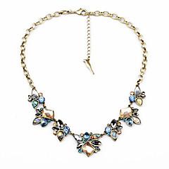 お買い得  ネックレス-女性用 クリスタル ストランドネックレス  -  フラワー ユニーク, 欧米の レインボー ネックレス ジュエリー 用途 おめでとう, ありがとうございました, 贈り物