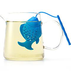 abordables Accesorios para té-Los pescados del silicón hacen los artículos de la manera del té para el uso diario color creativo al azar