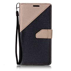 Недорогие Чехлы и кейсы для LG-Кейс для Назначение LG / LG K7 / LG K10 Кошелек / Бумажник для карт / со стендом Чехол Однотонный Твердый Кожа PU для LG V20 / LG G6