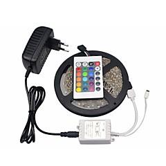 tanie Zestawy oświetlenia-Zestawy oświetlenia 300 Diody LED RGB Pilot zdalnego sterowania Nadaje się do krojenia Przysłonięcia Zmieniająca Kolor Samoprzylepne