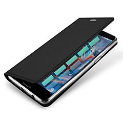 Para Porta-Cartão Hibernação/Ligar Automático Flip Magnética Capinha Corpo Inteiro Capinha Cor Única Rígida Couro PU para OnePlusOne Plus