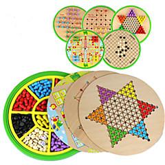 Bretsspiele Schachspiel Spielzeuge Kreisförmig Holz Stücke Kinder Unisex Geschenk
