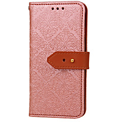 abordables Fundas para iPhone 4s / 4-Funda Para Apple iPhone X / iPhone 8 / iPhone 8 Plus Cartera / Soporte de Coche / con Soporte Funda de Cuerpo Entero Flor Dura Cuero de PU para iPhone X / iPhone 8 Plus / iPhone 8