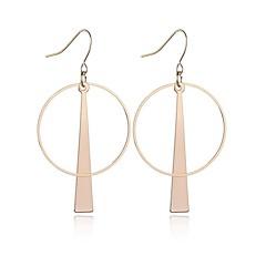 お買い得  イヤリング-女性用 ドロップイヤリング  -  円形 ゴールド / シルバー 幾何学形 イヤリング 用途 日常