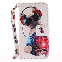 For Apple iPhone 7 7 Plus 6S 6 Plus SE 5S 5 Case Cover Cute Dog Pattern Painted Card Stent Wallet PU Skin Material Phone Case