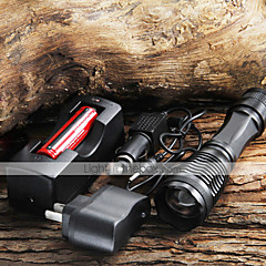 LED Flashlights / Torch Handheld Flashlights/Torch LED 1800/2000/2200 lm 5 Mode Cree XM-L T6 Zoomable for Camping/Hiking/Caving Everyday