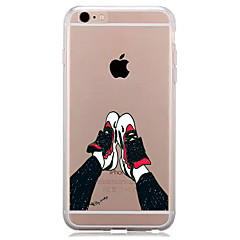 Недорогие Кейсы для iPhone 6 Plus-Для Прозрачный С узором Кейс для Задняя крышка Кейс для Мультяшная тематика Мягкий TPU для AppleiPhone 7 Plus iPhone 7 iPhone 6s Plus