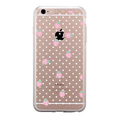 Недорогие Кейсы для iPhone 5-Кейс для Назначение Apple iPhone 7 Plus iPhone 7 Прозрачный С узором Кейс на заднюю панель Фрукты Мягкий ТПУ для iPhone 7 Plus iPhone 7