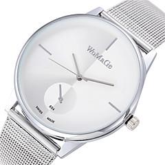 Kadın's Moda Saat Quartz Gündelik Saatler Alaşım Bant Minimalist Gümüş