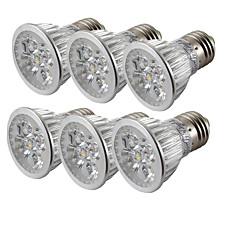 お買い得  LED 電球-6本 4 W 360 lm E26 / E27 LEDスポットライト 4 LEDビーズ ハイパワーLED クールホワイト 85-265 V / 6個