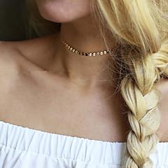 お買い得  ネックレス-女性用 チョーカー  -  ユニーク, ベーシック, ファッション ゴールド, シルバー ネックレス 用途 結婚式, パーティー, 誕生日