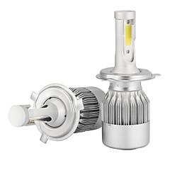 abordables Faros de Coche-2pcs H4 Coche Bombillas 36W/pcs*2W COB 3600lm LED Luz de Casco
