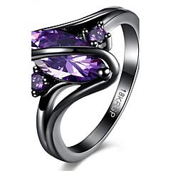 Damen Ring Modisch Synthetische Edelsteine Aleación Geometrische Form Schmuck Für Party Alltag