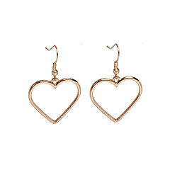 Χαμηλού Κόστους Σκουλαρίκια-Γυναικεία Καρδιά Κρεμαστά Σκουλαρίκια - Βασικό / Love Χρυσό / Ασημί Geometric Shape Σκουλαρίκια Για Πάρτι / Καθημερινά / Causal