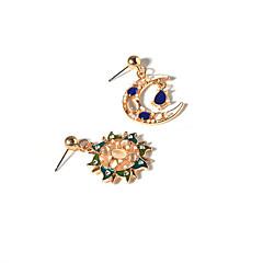 Dames Dangle Oorbellen Mismatch oorbellen Bergkristal Vintage Euramerican wanverhouding Opaal  Legering maan Sieraden Voor Dagelijks