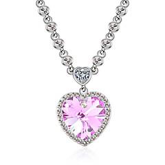 preiswerte Halsketten-Damen Kristall Anhängerketten - Personalisiert, Liebe, Herz Regenbogen, Rot, Hellblau Modische Halsketten Schmuck Für Hochzeit, Party, Herzliche Glückwünsche