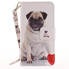 For Etuier Pung Kortholder Med stativ Flip Mønster Heldækkende Etui Hund Hårdt Kunstlæder for AppleiPhone 7 Plus iPhone 7 iPhone 6s Plus