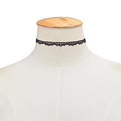 preiswerte Halsketten-Damen Halsketten - Spitze Personalisiert, Europäisch, Simple Style Weiß, Schwarz Modische Halsketten Für Besondere Anlässe, Geburtstag, Alltag