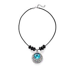 Damskie Naszyjniki z wisiorkami Kryształ Rhinestone sztuczna Diament Round Shape Kryształ Nylon StopSexy Modny Postarzane Korygujący