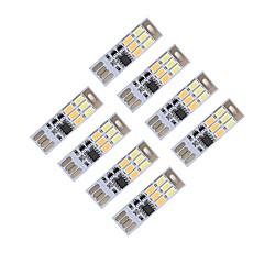 billige USB-lys-BRELONG® 8stk USB Lys Genopladelig Dæmpbar Farveskiftende Komapkt Størrelse