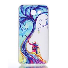 olcso Egyéb tokok Samsung készülékekhez-Case Kompatibilitás Samsung Galaxy J7 (2016) J5 (2016) Foszforeszkáló Jeges Áttetsző Minta Hátlap Fa Puha TPU mert J7 (2016) J5 (2016) J3