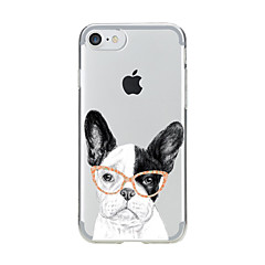 Недорогие Кейсы для iPhone 7-Для Прозрачный С узором Кейс для Задняя крышка Кейс для С собакой Мягкий TPU для AppleiPhone 7 Plus iPhone 7 iPhone 6s Plus iPhone 6 Plus