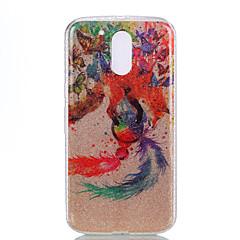 For IMD Mønster Etui Bagcover Etui Glitterskin Drømmefanger Blødt PC for Motorola MOTO G4 Moto G4 Plus