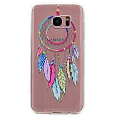 billige Galaxy S6 Edge Etuier-Etui Til Samsung Galaxy S8 S7 edge Transparent Mønster Bagcover Drømme fanger Blødt TPU for S8 S7 edge S7 S6 edge S6 S5 Mini S5