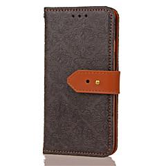 Для Кошелек Бумажник для карт со стендом Флип Рельефный Кейс для Чехол Кейс для Цветы Твердый Искусственная кожа для HuaweiHuawei P10