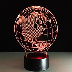 ieftine -Lumina de noapte acrilic tabel lămpi hartă hartă americas colorat noapte lampă copii ziua de nastere prezent veilleuses pour enfants