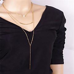 preiswerte Halsketten-Damen Irregulär Personalisiert Anhänger Stil Anhänger Künstliche Perle Modisch Euramerican Anhängerketten Obsidian Künstliche Perle Kupfer