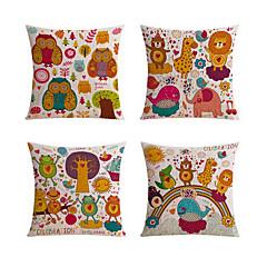 4 szt Bielizna Poduszka-Nowość Poszewka na poduszkę Poduszka Body Pillow Poduszka turystyczna sofa Poduszka,Wildlife Zwierząt Drukuj