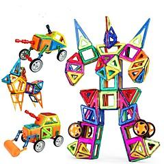 billige Byggeblokker-Byggeklosser Magnetisk blokk Pedagogisk leke Leketøy Bil Robot Magnetisk Jenter Gutter 96 Deler