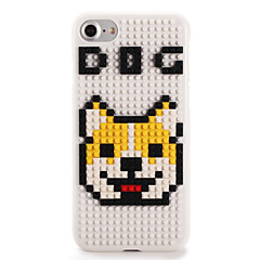 For DIY Block Building Case Dog Cartoon Pattern Back Cover Case Hard PC for Apple iPhone 7 7 Plus 6s 6 Plus