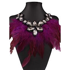 preiswerte Halsketten-Damen Statement Ketten - Euramerican Regenbogen, Braun, Rose Rot Modische Halsketten Schmuck Für Hochzeit, Party, Besondere Anlässe