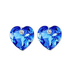 preiswerte Ohrringe-Damen Kristall Logo Ohrstecker - Krystall, Strass Luxus, Einzigartiges Design, Natur Dunkelblau Für Party Geburtstag Geschäft