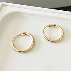 Women's Hoop Earrings Earrings Fashion Simple Style Costume Jewelry Alloy Circle Jewelry For Daily Casual Sports