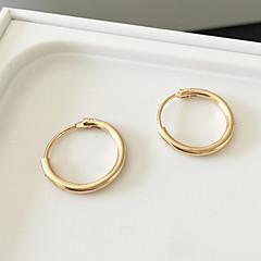 Damskie Kolczyki koła Kolczyk Modny minimalistyczny styl biżuteria kostiumowa Stop Circle Shape Biżuteria Na Codzienny Casual Sport