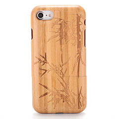 Недорогие Кейсы для iPhone 6 Plus-Кейс для Назначение Apple iPhone 7 Plus iPhone 7 С узором Рельефный Кейс на заднюю панель Имитация дерева дерево Твердый деревянный для