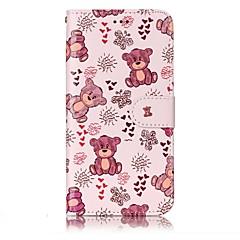 tanie Etui / Pokrowce do LG-Dla lg g6 pokrowiec na pokrycie wzór shine zwolnienie pu materiał stent portmonetka portfel telefon przypadku