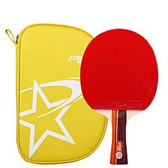 2 Gwiazdki Ping Pang/Rakiety tenis stołowy Ping Pang Drewno Długi uchwyt Pryszcze