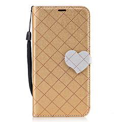 Для huawei p8 lite (2017) p10 алмазный шаблон сердце магнитная пряжка pu кожа материал кошелек функция телефон кейс для p10 lite y5 ii y6