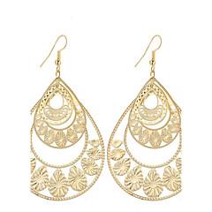 preiswerte Ohrringe-Damen Tropfen-Ohrringe - versilbert, vergoldet Tropfen Anhänger Stil, Retro, Böhmische Gold / Silber Für Weihnachts Geschenke / Hochzeit / Party