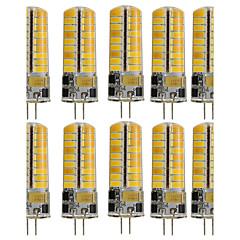 preiswerte LED-Birnen-10 Stück 3W 250-300lm G4 LED Doppel-Pin Leuchten T 72 LED-Perlen SMD 5730 Dekorativ Warmes Weiß / Kühles Weiß 12V / 110-130V